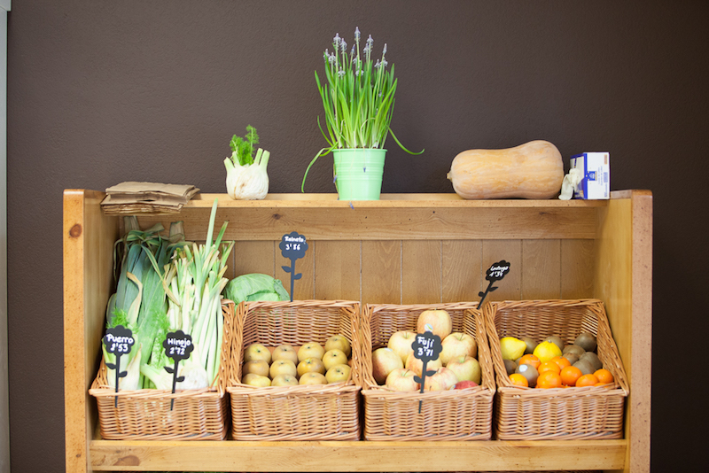 Detalle verduras y hortalizas naturoteca
