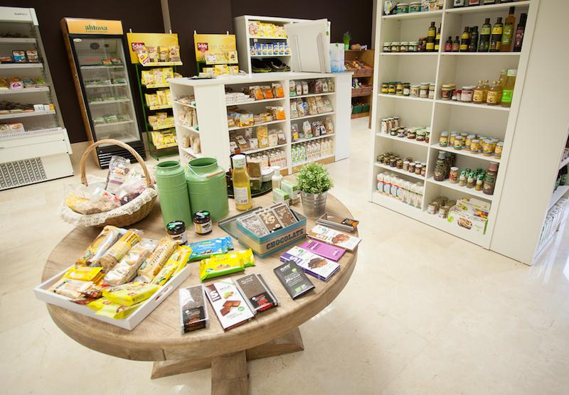 Interior herboristería y alimentación ecológica
